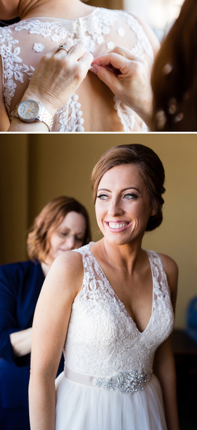 The gorgeous Bride getting ready for the first look with her Groom!