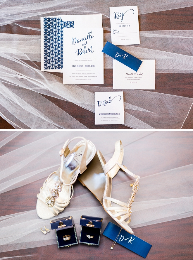 We're crushing on this invitation suite!