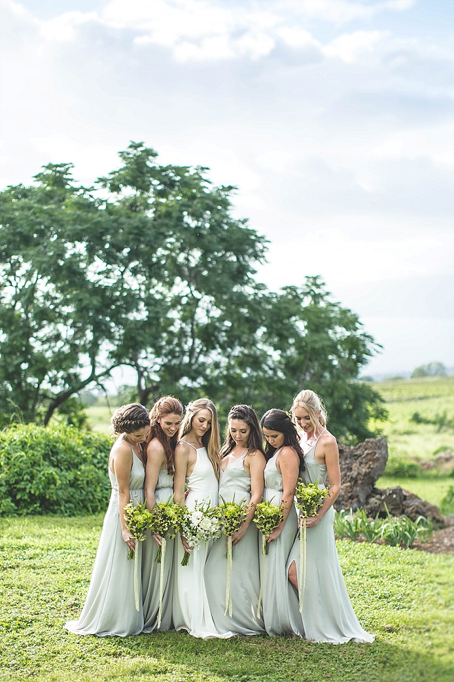 We're loving this Bride and her Bridesmaid's stunning wedding day style!