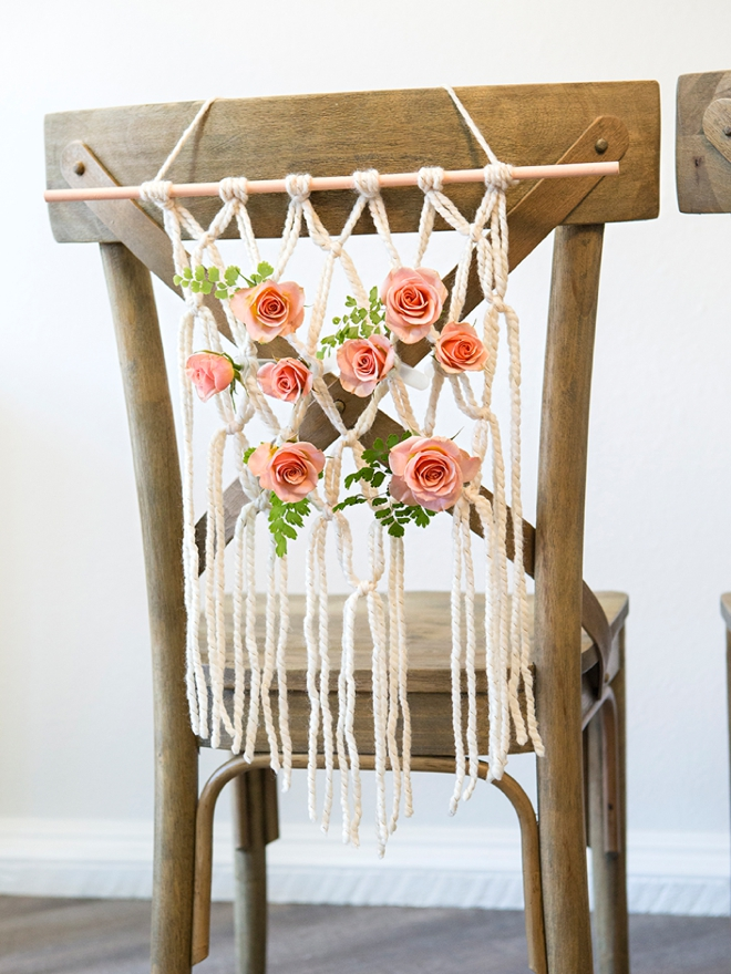 These yarn macramé reception chairs are SUPER easy to DIY, check them out!