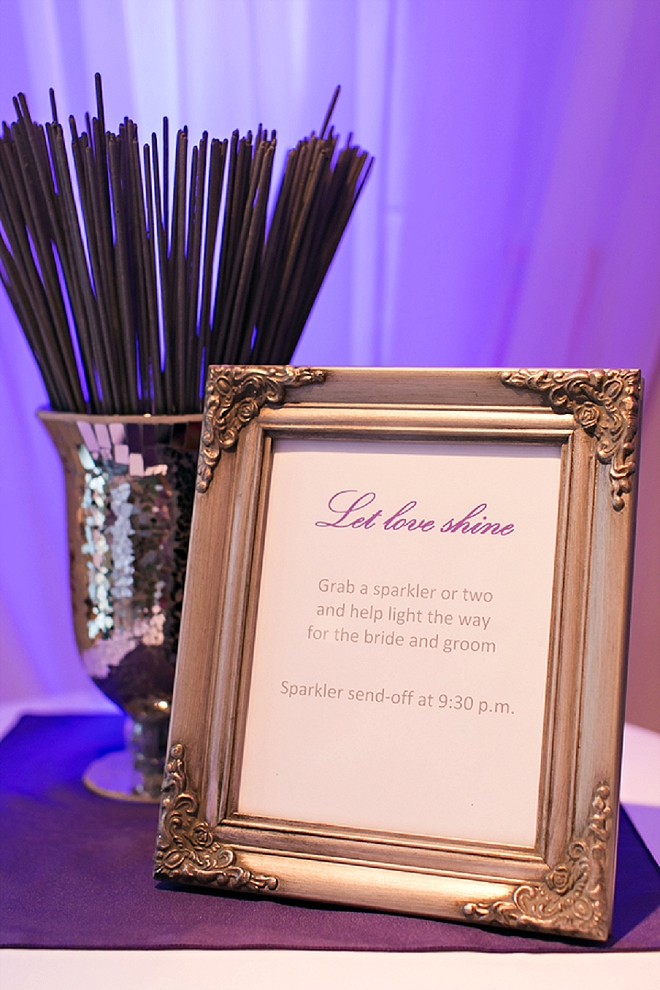 We love a sparkler exit and this darling set-up!