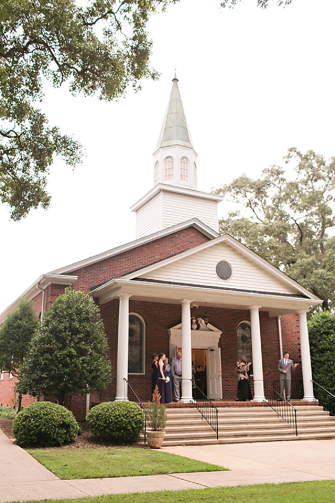 The gorgeous church for this couple's ceremony!