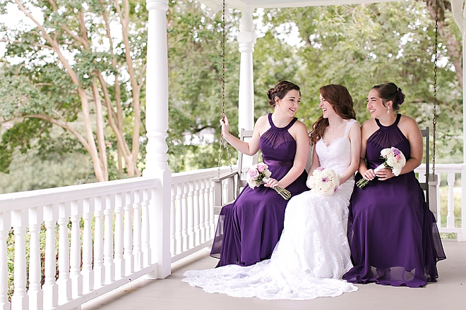 Such sweet snaps of this Bride and her Bridesmaids before the ceremony!
