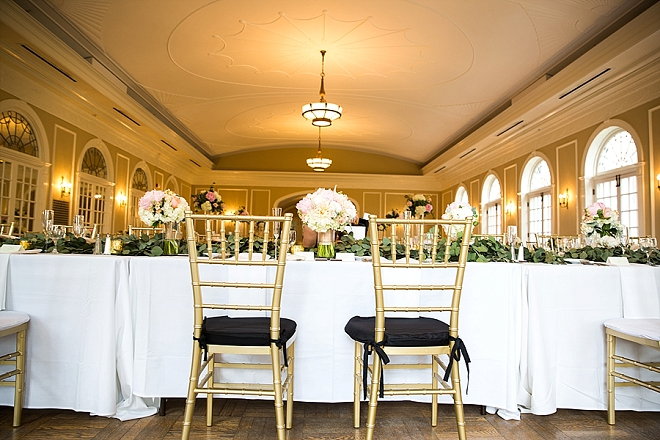 We're crushing on this gorgeous reception!