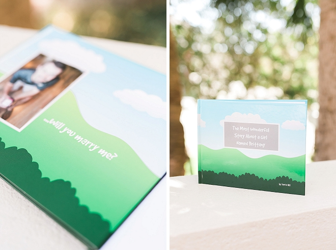 We're in LOVE with this darling wedding proposal book!
