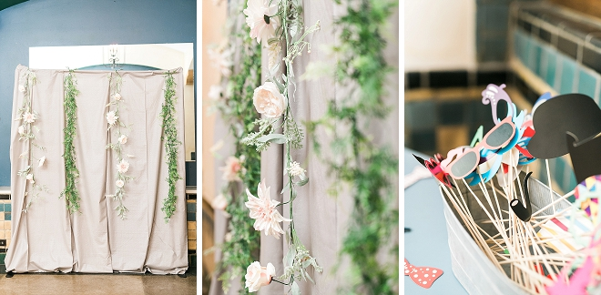 Check out this couples handmade photobooth! Too pretty!