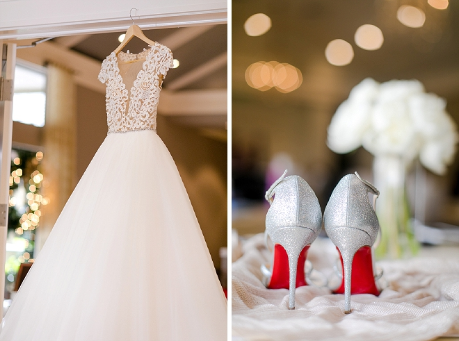 Check out this Bride's gorgeous dress and wedding day shoes!