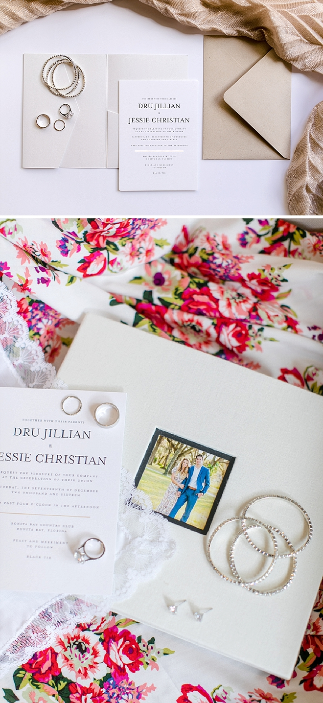 We're crushing on all of this couple's darling details and invitation suite!
