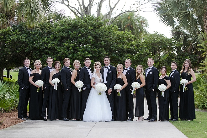 The Bride and Groom and their classically stunning wedding party!