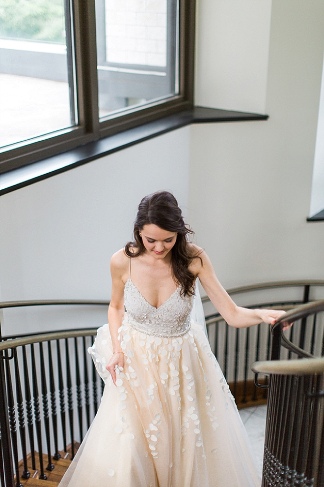 Swooning over this gorgeous Bride and her handmade wedding skirt!