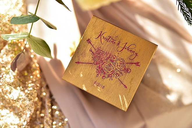 Swooning over this customized wooden ring box perfect for your ceremony and a darling keepsake!
