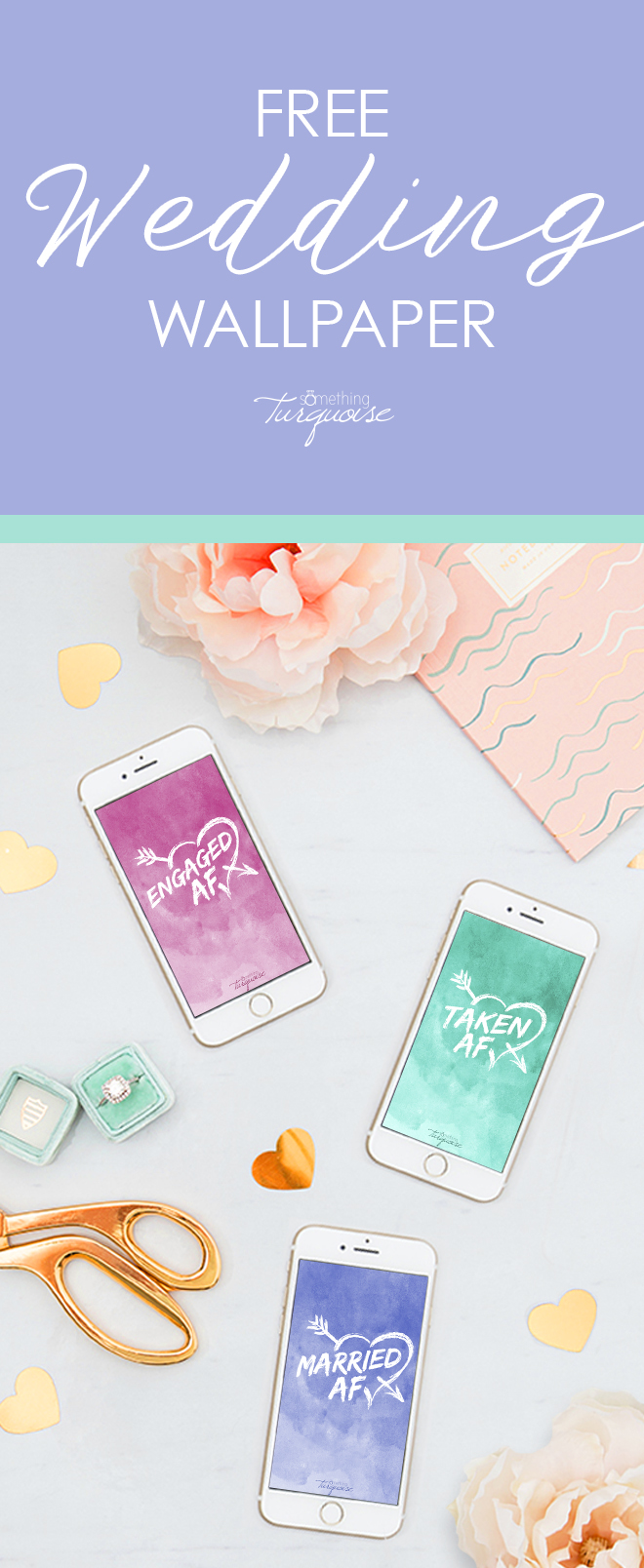 How freaking adorable are these AF iPhone wallpaper downloads!? And they are free!