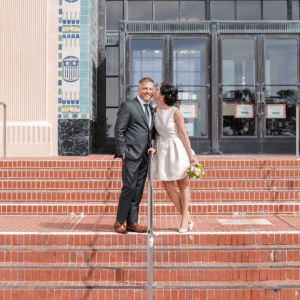 How cute is this couple's elopement in the city?! Super sweet!