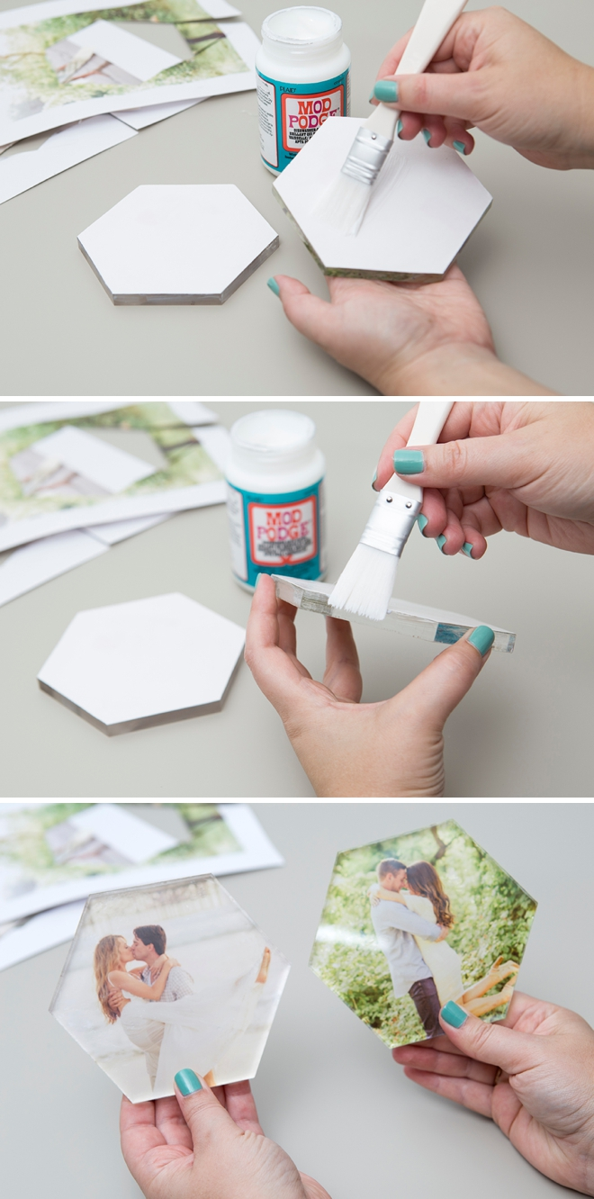 This DIY photo cake topper doubles as a keepsake!