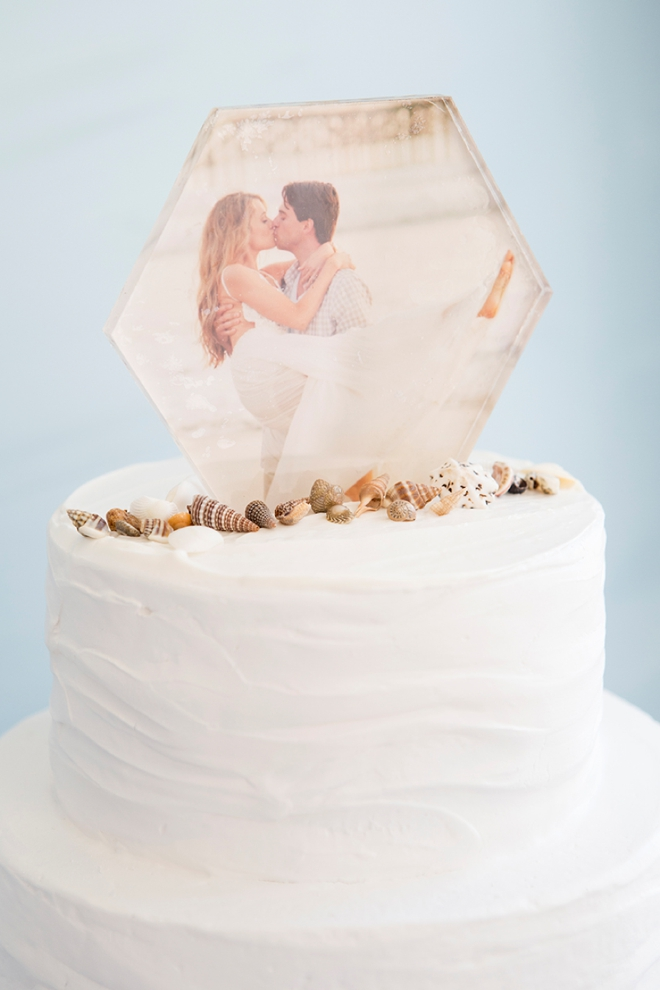 OMG. How adorable is this DIY photo cake topper?