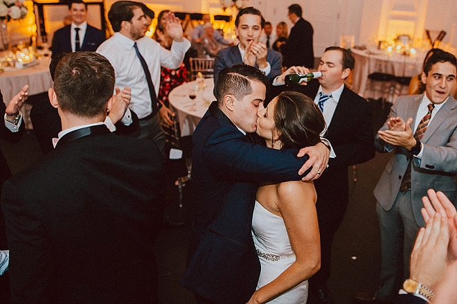 Such a sweet snap of this Mr. and Mrs. at the end of the night!