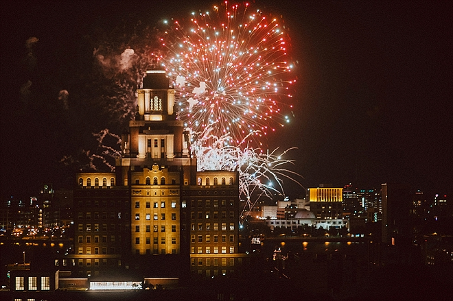 Fun fireworks in Philly at the end of the night!