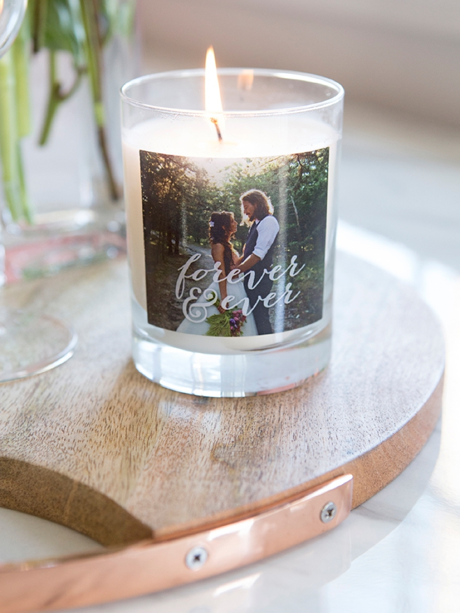 Check out this beautiful custom photo candle from Shutterfly!