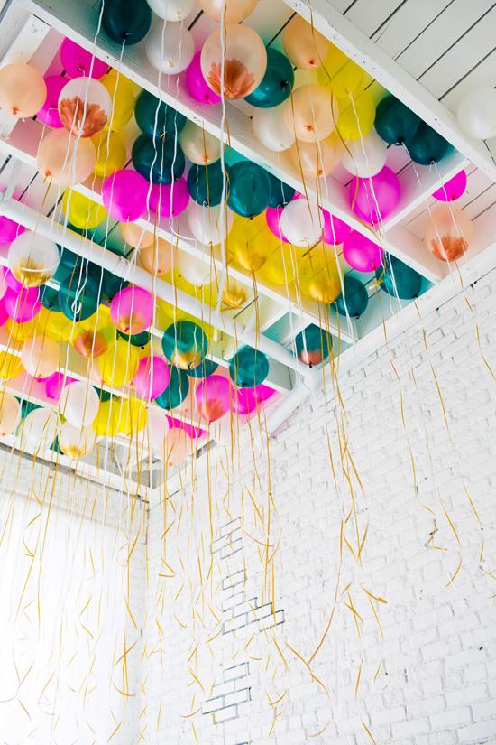 Característica de balão de teto e um projeto de balão DIY.