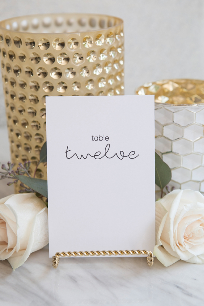 These simple and chic table numbers are FREE to download and print!