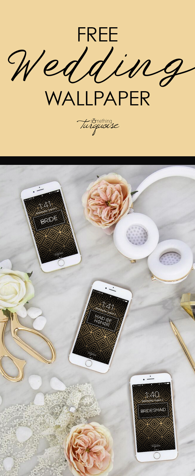 Check out this gorgeous BRIDAL PARTY iPhone wallpaper suite, it's free!