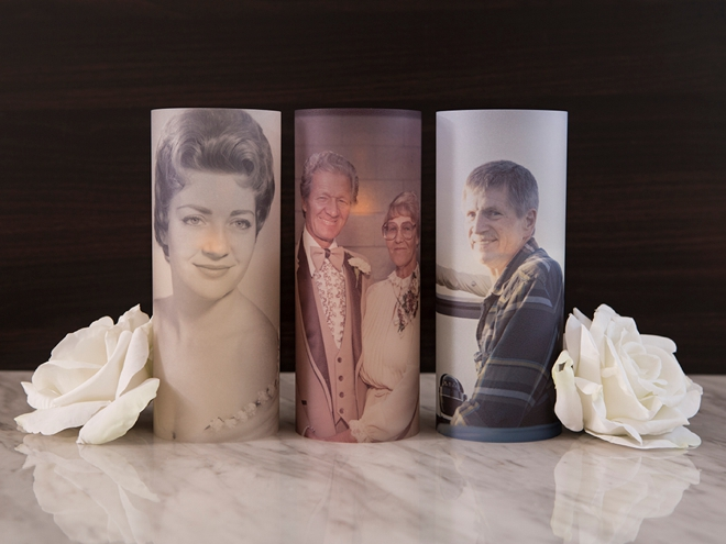 These DIY In Loving Memory photo lanterns are an awesome idea!