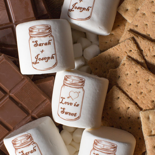 Custom wedding marshmallows by Candy With A Twist