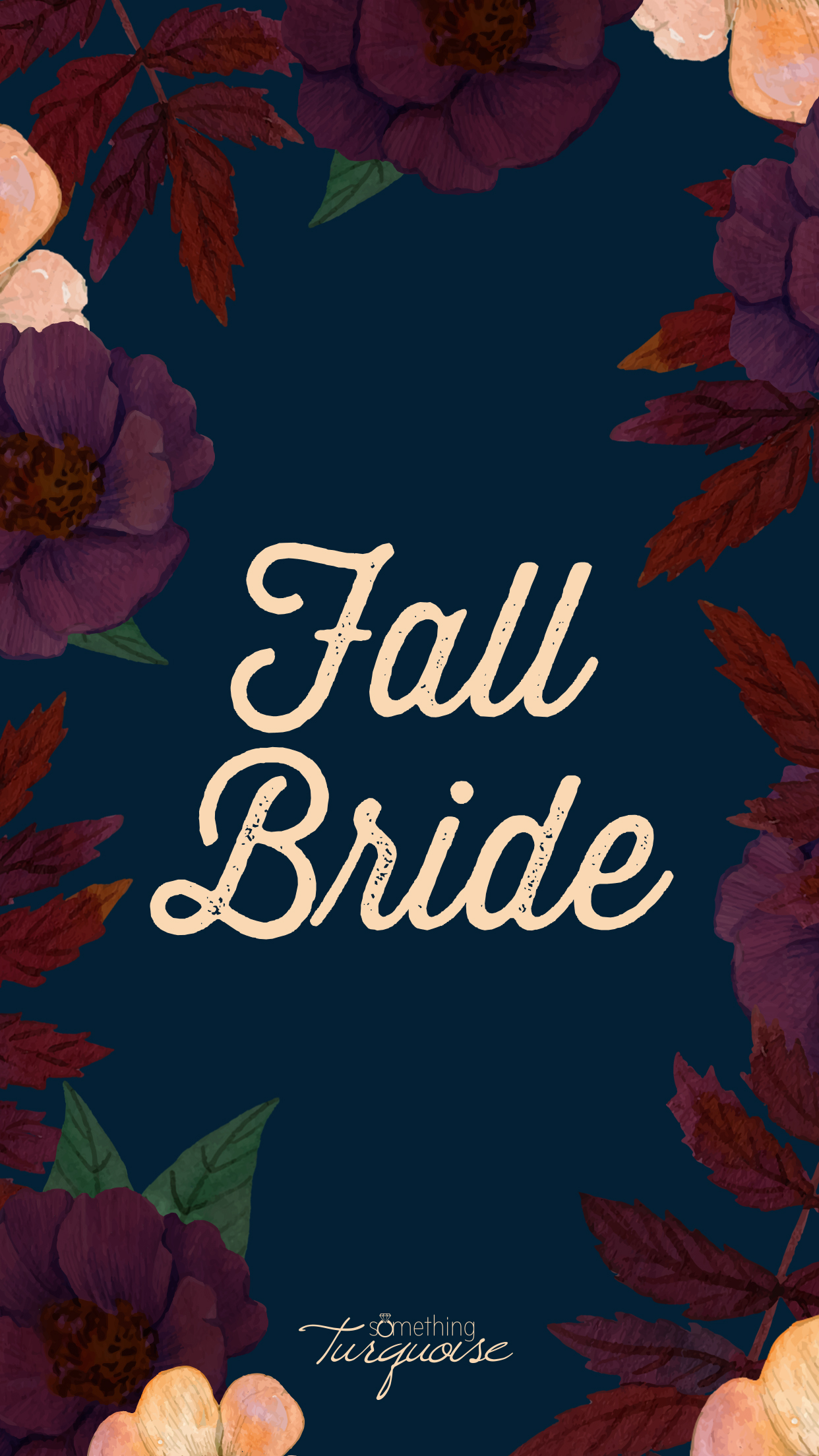 This Fall Bride iPhone wallpaper is SO cute!