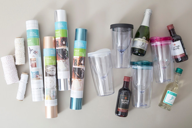 Learn how to use your Cricut to personalize wine tumblers!