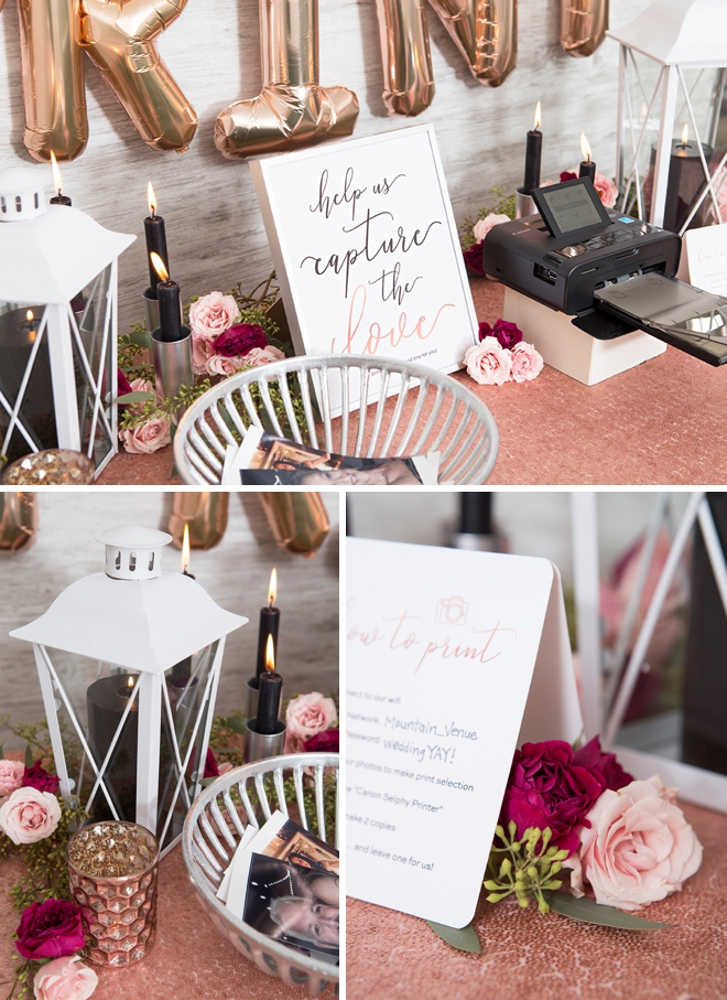 Create a photo printing favor station for your wedding!