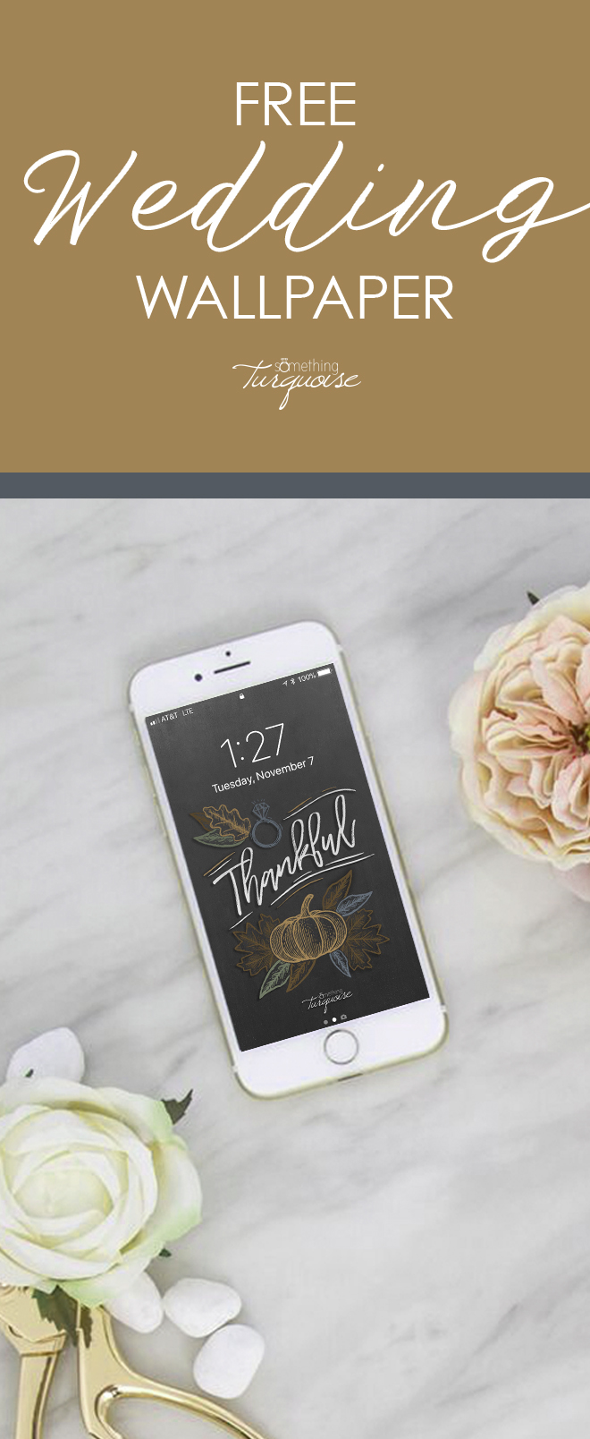 FREE iPhone wallpaper and lock screen for fall brides!
