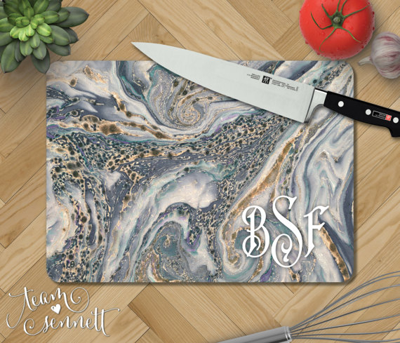 This personalized mobile cutting board is unique and adorable making it a great holiday gift!