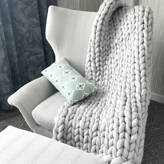 Cozy up with this gorgeous super chunky throw or gift it this holiday season!
