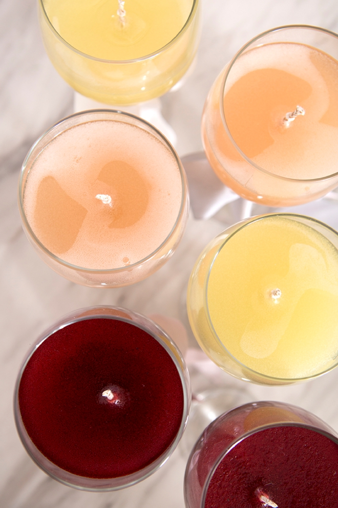 Woah, these DIY wine candles are AMAZING!