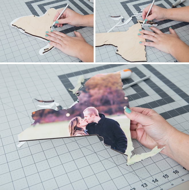 These DIY photo state cutouts are SO cool!
