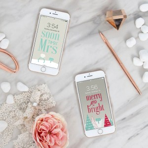Download these FREE iPhone Wallpapers and Lockscreens for winter brides!