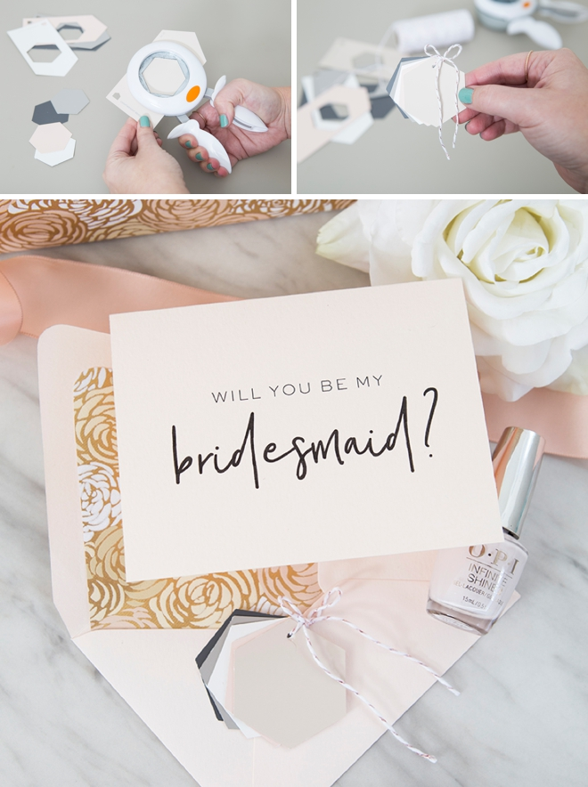 Make you and your bridesmaids a wedding color key!
