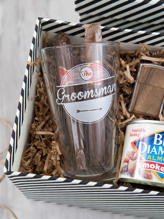 These DIY will you by my groomsman gift boxes are SO cute!