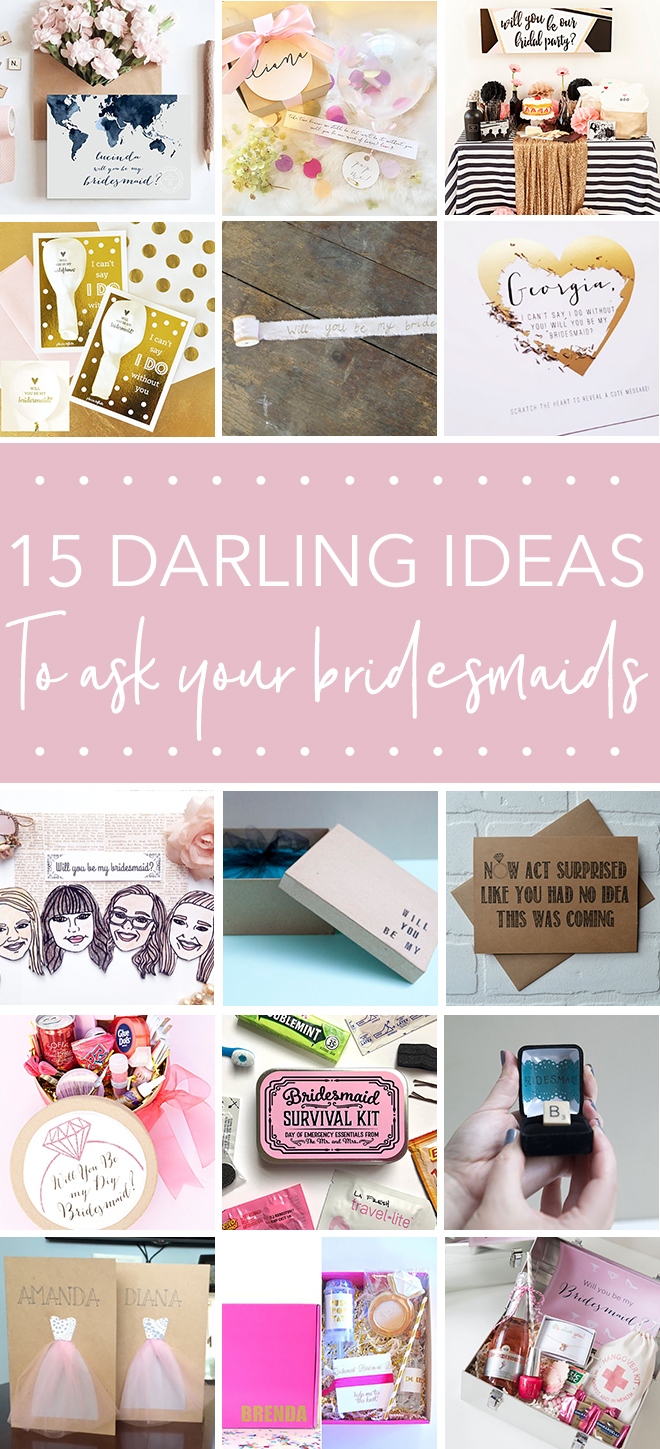 15 darling ideas to ask your bridesmaids!