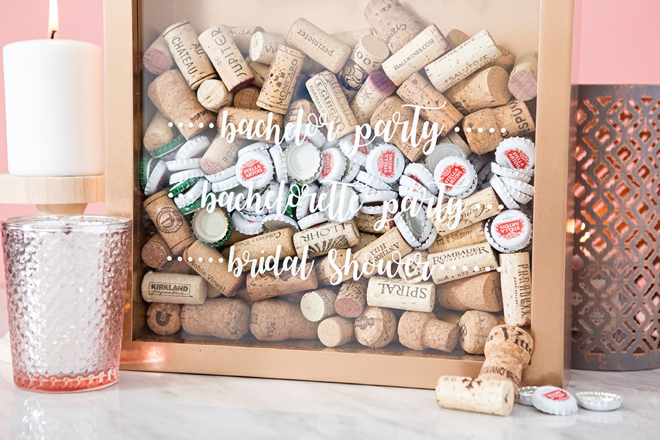 OMG, save all the corks from your wedding and bridal shower!