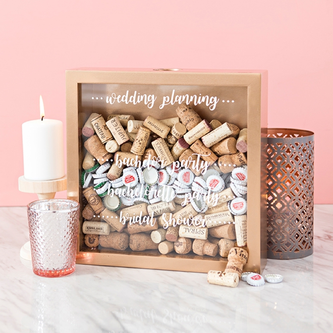 Cork Wedding Memory: This DIY Wedding Cork Keepsake Frame Is The Absolute Cutest