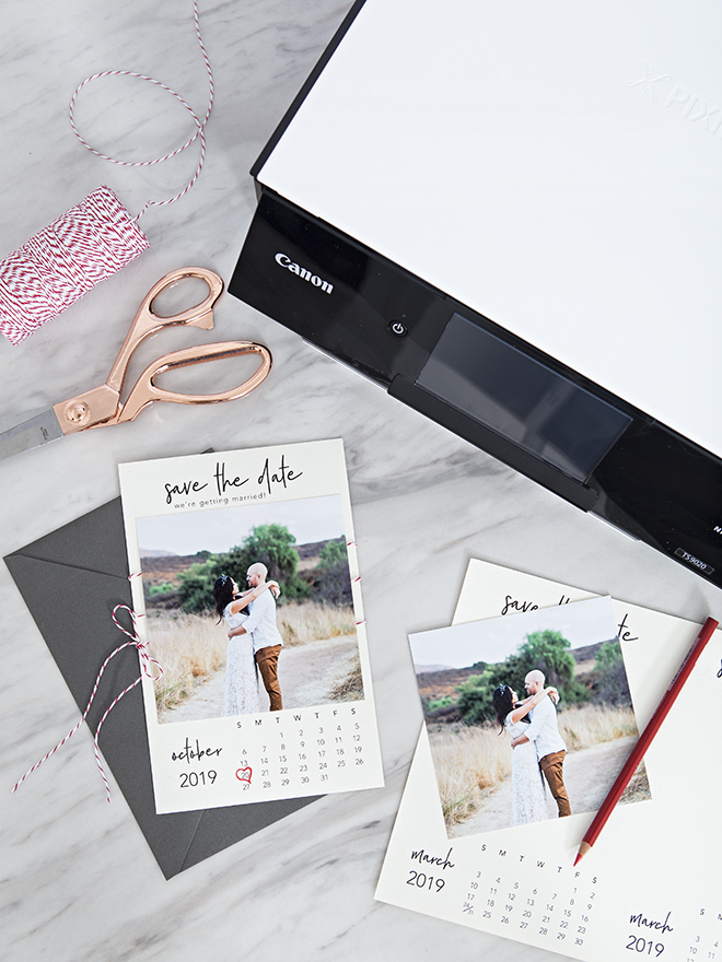 Free printable Calendar style Save the Date invitations!