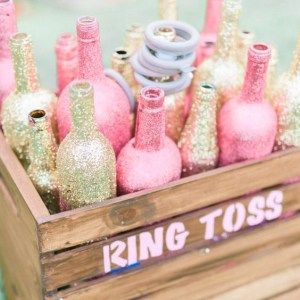 This cute ring toss game is an adorable bridal shower DIY!