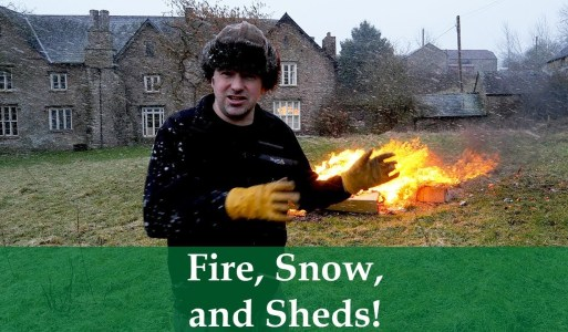 Fire, Snow, and Sheds – When tidying, blizzards, and bonfires collide.