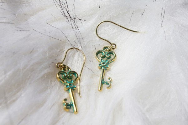 Gold Key Earrings
