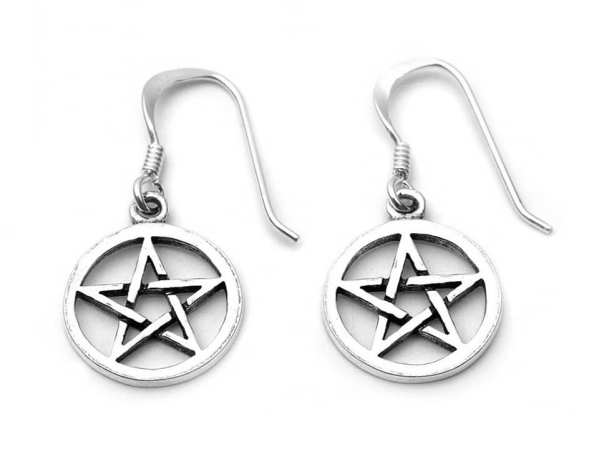 Small Pentacle Drop Earrings