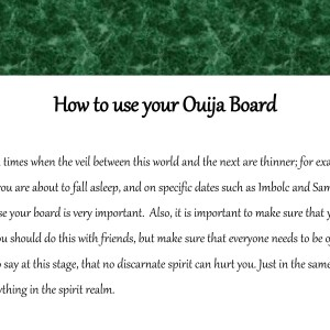 Ouija Board Guidance