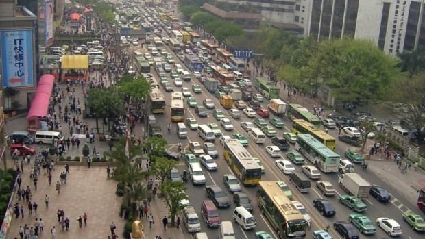 crossing roads Guangzhou