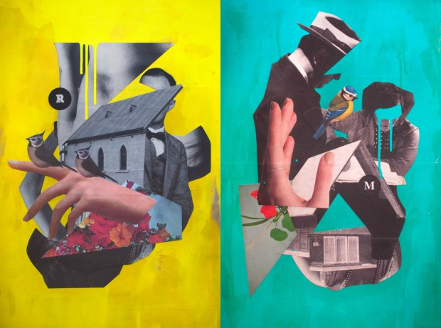 Danilo-Brandao_Its-All-Related_Reccurring-Dream_400-x-600mm_Collage-and-Acrylic-on-9mm-MDF-Board