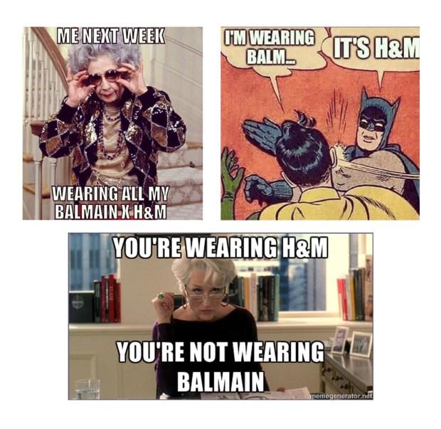 BalmainXH&M collage